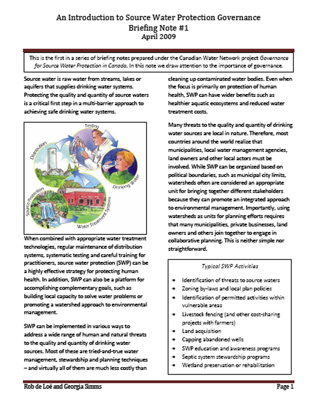 Introduction To Water Gardening: An Introduction To Source Water Protection Governance
